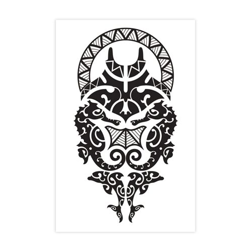 Men's Tattoos Personality Animal Pattern Waterproof Accessories Geometric Hollow out Top Fashion