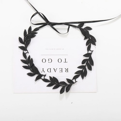 Women's Lace Choker Solid Color Leaf Design Stylish Catenary/Necklace Vintage