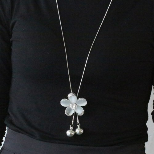 Women's Sweater Chain Fashion Flower Pearl Tassel Floral Vintage Accessories Rhinestone Celebrity