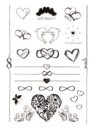 Women's Tattoo Sticker Heart Pattern Ladylike Tattoo Other Sweatproof Letter