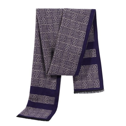SAN VITALE Men's Scarf Striped All Match Warm Business Casual Geometric Winter Scarves Hand wash Accessory Tassel