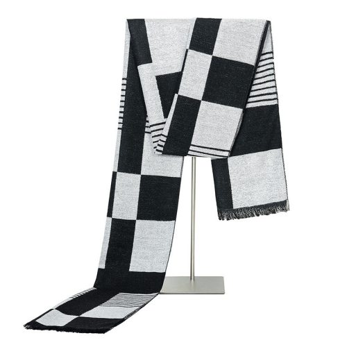 SAN VITALE Men's Scarf Fashion Color Block Comfy Warm Scarves Winter Scarves Geometric Hand wash Formal Accessory Tassel