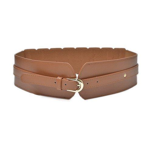 Women's Corset Stylish Pure Color Buckle Wide Belt cinch belt Accessories One-loop Hand wash Fashion