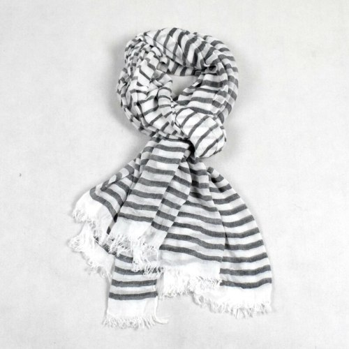 SAN VITALE Men's Scarf Striped Color Block Breathable Scarves Tassel Winter Scarves Solid Color Hand wash Outdoor Accessory