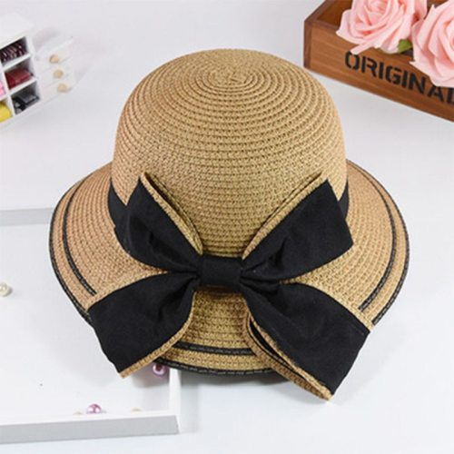 Women's Sun Hat Fashion Simple Accessories Casual Summer Floral Sun Hats Bow