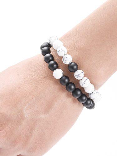 Women's 2 Pcs Beaded Bracelets Retro National Stylish All Match Accessories Sweet Accessory Round/Circle Basic