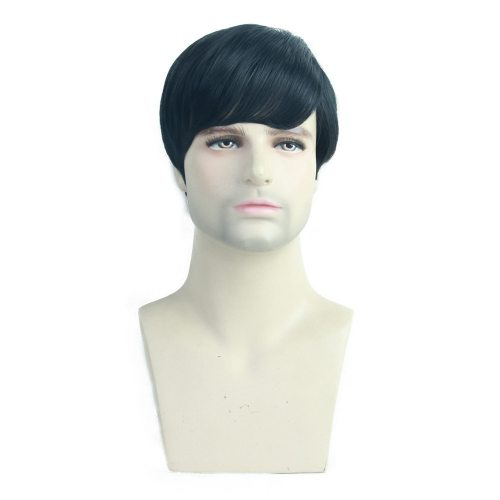 Men's Wig Short Hair Fashion Basic Hand wash Straight