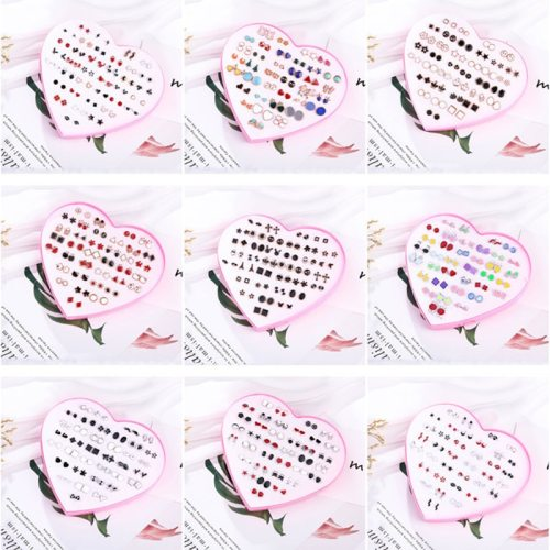 Women's 36 Pairs Earrings Set Simple Heart Elegant Fashion Geometric No Inlay Metal Decoration Simple/Neutral Others