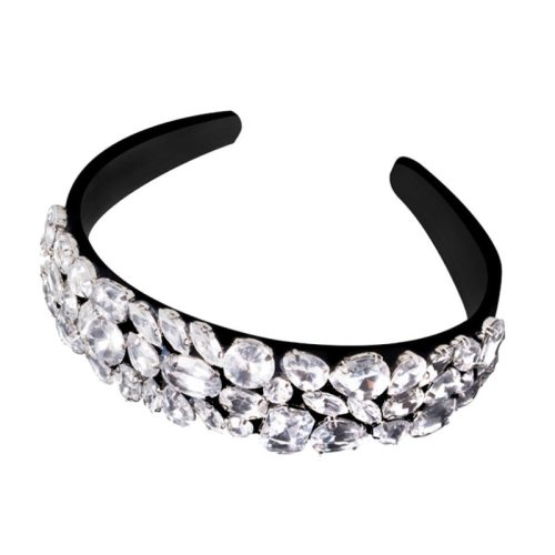 1 Piece Women's Hairband Creative Wide Hair Celebrity Geometric Hair Accessories Fashion Crystals