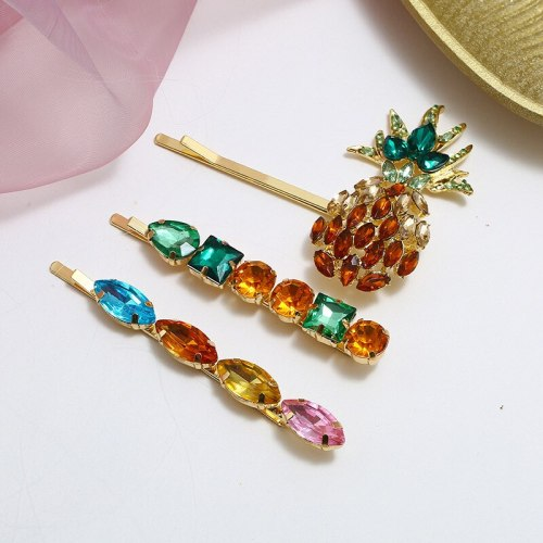 3Pcs Women's Hair Clips Color Block Vintage Exquisite Hair Hair Accessories Fine Wipe clean