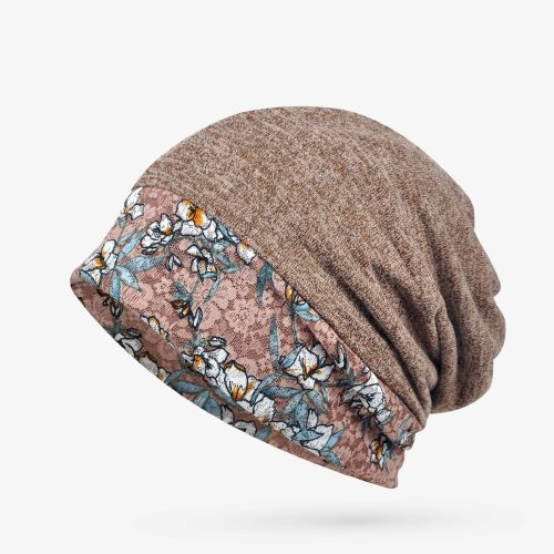 Women's Beanie Thin Lightweight Breathable Fashion Floral Warm Drape Hand wash Summer Gradient Color Casual Skullies & Beanies Accessory