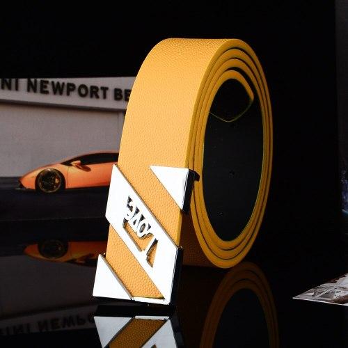 Men's Belt Solid Color Simple Design Durable Fashion Accessory Men's Belts Letter Hollow out