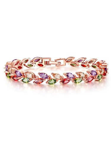 Women's Bracelet High Quality AAA Certificate Colorful Marquis Zircon Inlaid Trendy Fashion Accessories