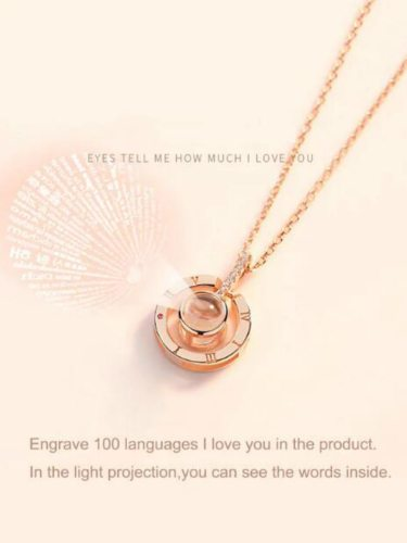Women's Necklace Round Shape Projection Pendant Creative Necklet None Infinite Charming Jewelry Accessory Fashion
