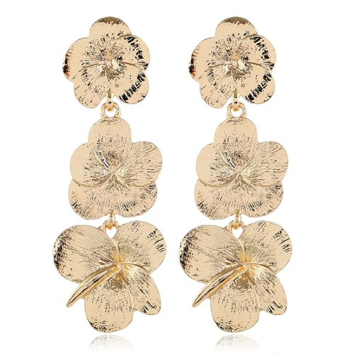 1 Pair Women's Drop Earrings Creative Flower Tassel Long Fashion Accessories Alloy Inlaid with Artificial Gem Metal Decoration Flower/Fruit/Plant