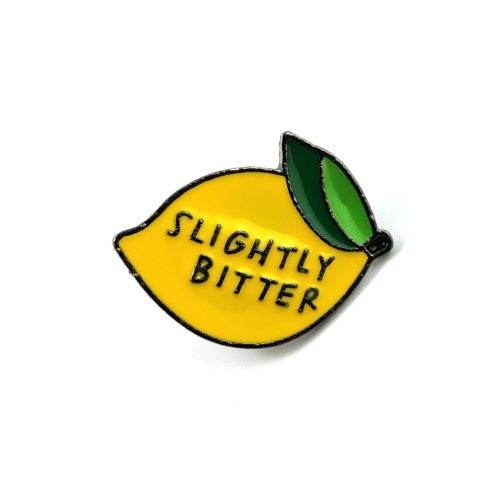 Women's Brooch Lemon Design Letter Pattern Brooch Fruit Metal Decoration
