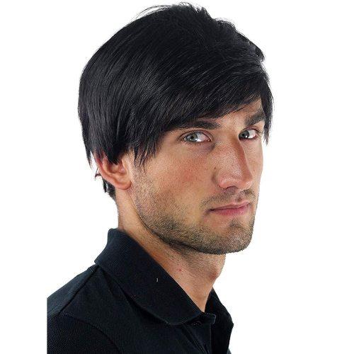 Men's Wig Short Hair Chemical Fiber Wig Hand wash Straight Basic