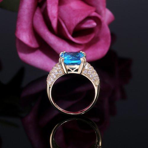 Women's Ring Zircon Inlaid All Match Elegant OL Infinite Charming Jewelry Rhinestone Accessory Solid Color Fashion