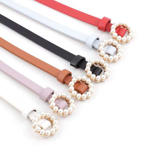 Women's Imitation Pearl Ladylike Design Accessories One-loop jeans belt Fashion