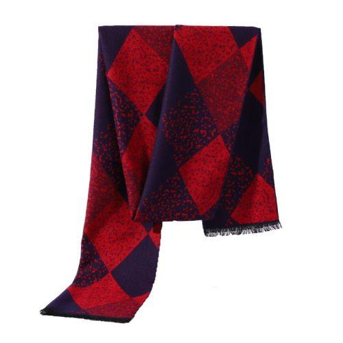 SAN VITALE Men's Scarf Color Block Comfy Warm Winter Scarves Accessory Geometric Top Fashion Hand wash Tassel