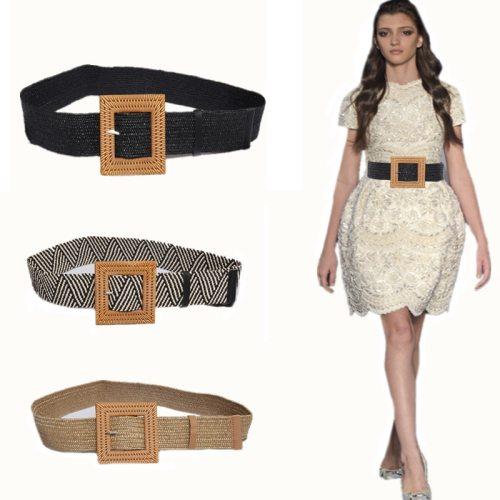 1Pc Women's Corset String Braided Vintage All Match Belt Tassel Geometric Wipe clean One-loop Accessory Basic cinch belt