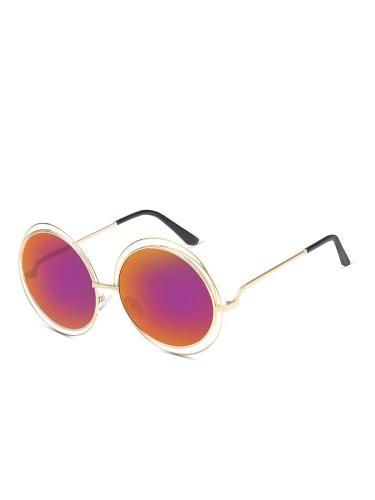 Women's Creative Design Round Shape Casual able Accessory Sunglasses Fashion Wipe clean Black