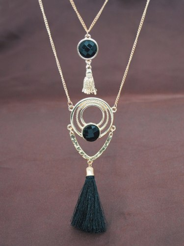 Women's Multi-Layer Necklace Creative Design Tassel Decor Vintage Necklace Fashion Size: first layer: 60CM; second layer: 54CM; third layer: 42CM 6CM