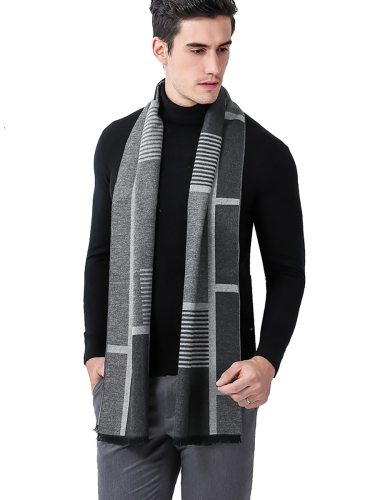 Men's Scarf Business Thicken Warm Knitted Comfy Scarf Hand wash None Outdoor Item Type: ScarvesDepartment Name: AdultStyle: FashionScarves Type: SAN