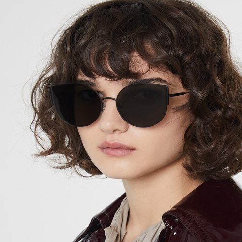 Women's Cat Eye Shape Chic Glasses zoravia Accessory Others Elegant Sunglasses Metal Decoration Butterfly Shape Solid Color Punk Wipe clean Black