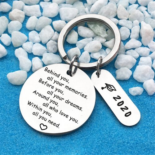 Men's Key Ring All Match Letter Pattern Accessories