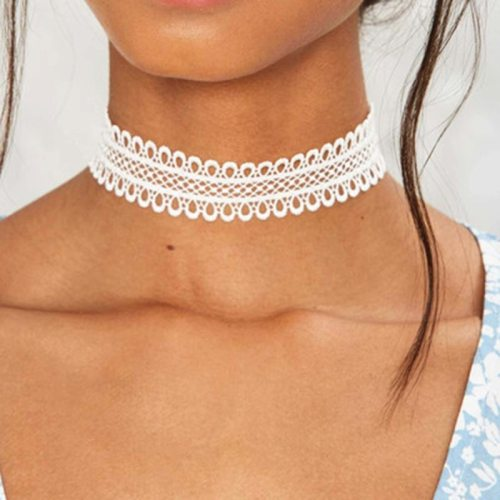 Women's Choker Fashion Simple Elegant OL Lace Accessory Solid Color Vintage