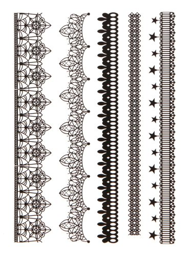 Women's Tattoo Sticker Lace Pattern Solid Color Tattoo Easy Attaching Geometric Other