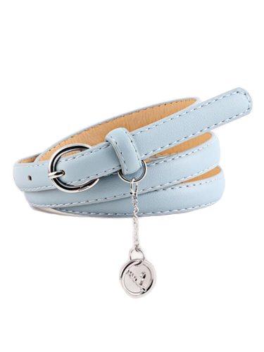 Women's Jeans Belt Color Pendant Decor Buckle One-loop Solid Women's Belts Fashion Accessories
