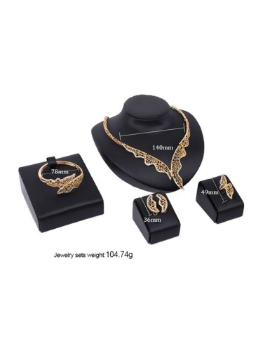 Filigree Hollow Out Glam Style 5 Pcs Women's Jewelry Fashion Accessory