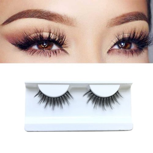 1 Pair Artificial Eyelashes 5D Natural Thick Long Curling High Quality Eyelash: 5D false lashes is made of thin fiber material Dry
