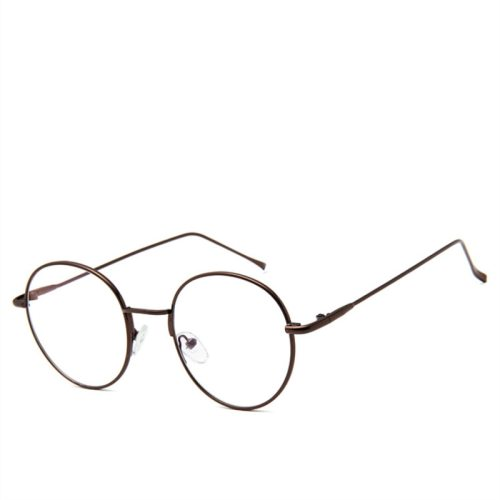 Men's Vintage Style All Match Top Fashion Eyeglasses Solid Color Round Circle Accessory