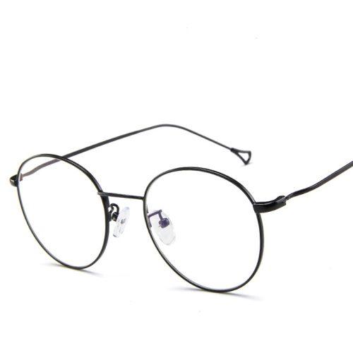 Men's Eyeglasses Simple Retro Metal Myopia Frame Solid Color Punk Metal Decoration Fashion Wayfarer Accessory