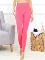 Women's Thermal Pants Solid Color Warm Thermal Thin Mid Waist Sexy