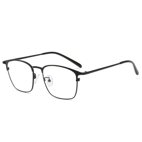 Men's Eyeglasses Light Weight Square Frame Plain Glasses Rivet Sports Solid Color Reading Glasses Accessory Round Circle