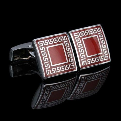 Men's Cufflinks Square Shape Business All Match Metal Decoration Casual Vintage Solid Color