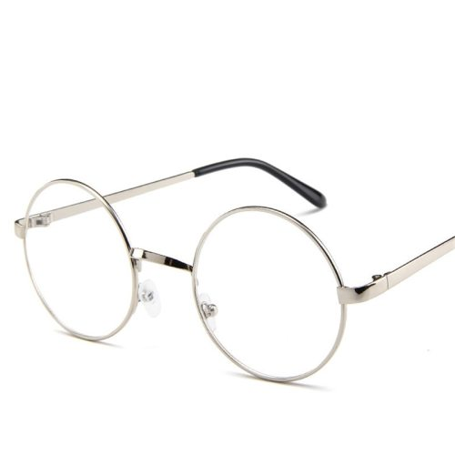 Men's Metal Frame Vintage Style Solid Color Fashion Eyeglasses Casual Accessory Round Circle