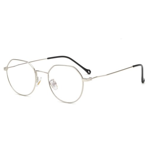 Men's Eyeglasses Metal Frame Anti Blue-ray Plain Glasses Rimless Rivet Reading Glasses Solid Color Accessory Sports