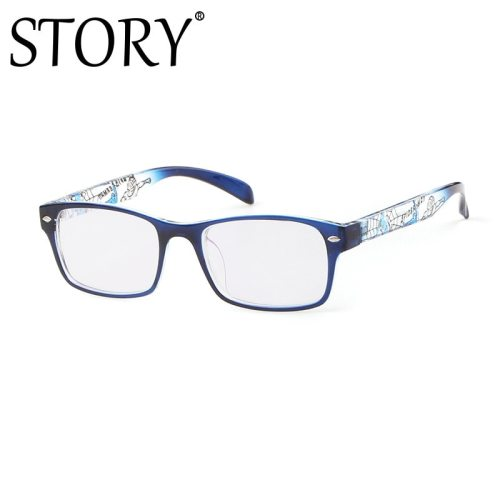 SAN VITALE Men's Eyeglasses Square Style Vintage Metal Decoration Geometric Wayfarer Frame Accessory Fashion