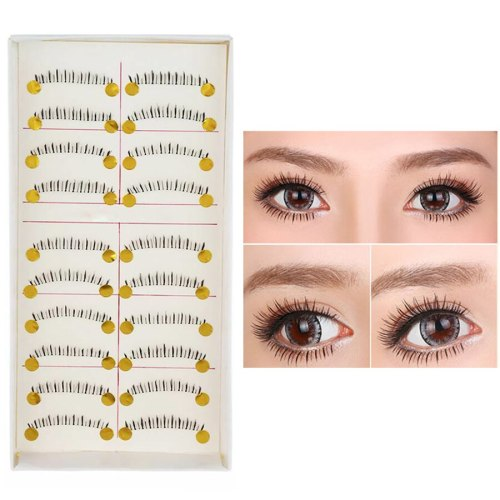 Elegant Lashes Artificial Under Eyelashes for Lower/Bottom Show Stage Curling Dry