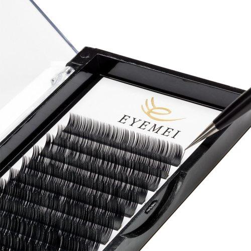 Eyelash Extensions 020mm C Curl 9-15Mix Premium Lash Extension, Light Lashes Individual use easily Curling Matte