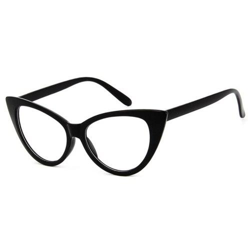 Men's Eyeglasses Simple Retro Preppy Style Accessory Solid Color Top Fashion Metal Decoration Frame Cat Eye