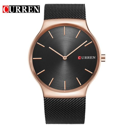 Curren Men's Quartz Watch Fashion Steel Strap Simple Business Stainless Steel Top Fashion 30M Waterproof Big Dial Scratch Resistant