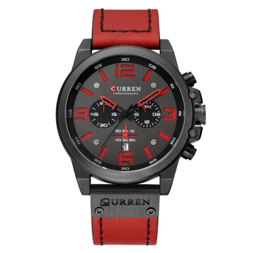 CURREN Men's Quartz Watch Fashion Multi-Functional Simple OL Calendar Stainless Steel Big Dial Scratch Resistant PU