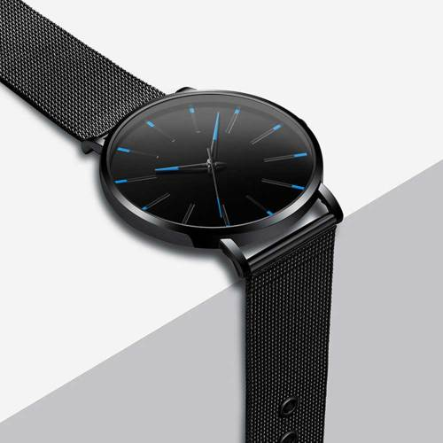 One Piece Men's Quartz Watch Fashion Simple Ultra Thin Business Mesh Belt 30M Waterproof Glass Alloy Casual size: watch dial: 39cm watch length: 24cm