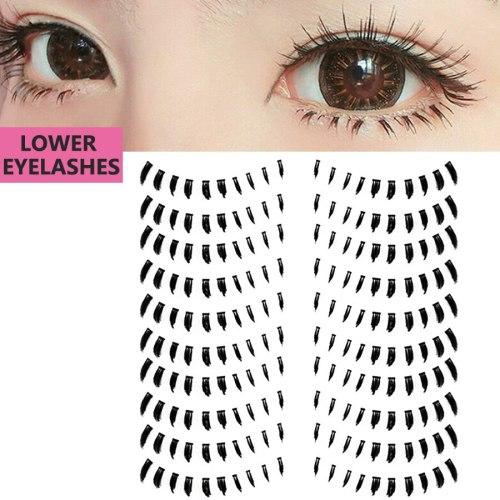 10 Pairs Handmade Thick Bottom Lower Artificial Eyelashes Eyes Volumizing Almond-Shaped eyes Dry